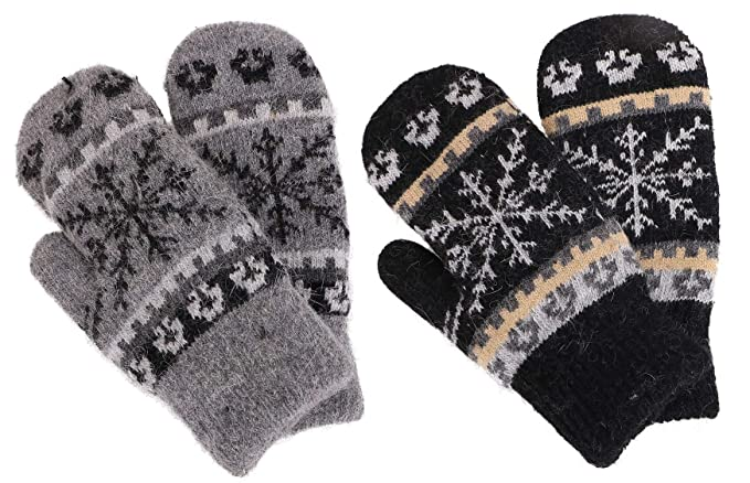 b1faf5ed6d3 Women's Winter Fair Isle Knit Sherpa Lined Mittens - Set of 2 Pairs