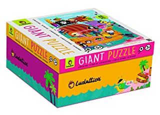 Giant Puzzle La Nave dei Pirati 48 pz 100 x 70 cm The Pirate Ship Made in Italy