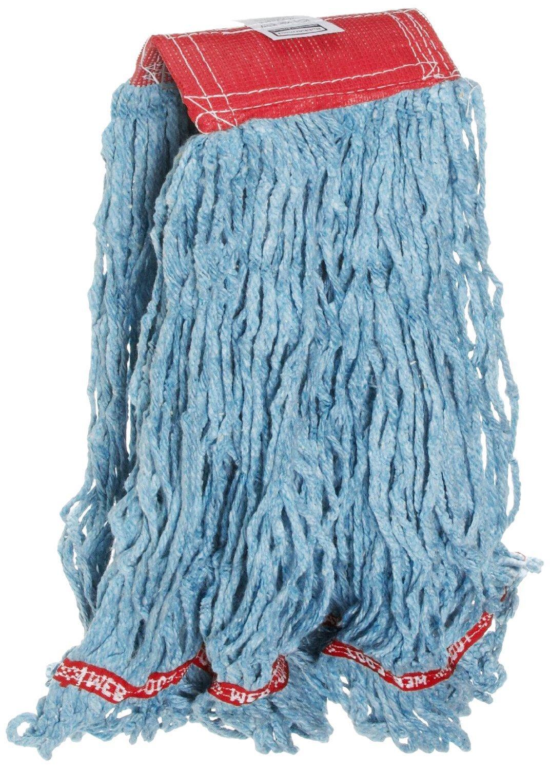 2 Pk. Rubbermaid Commercial Web Foot Blend Mop, Large, Blue