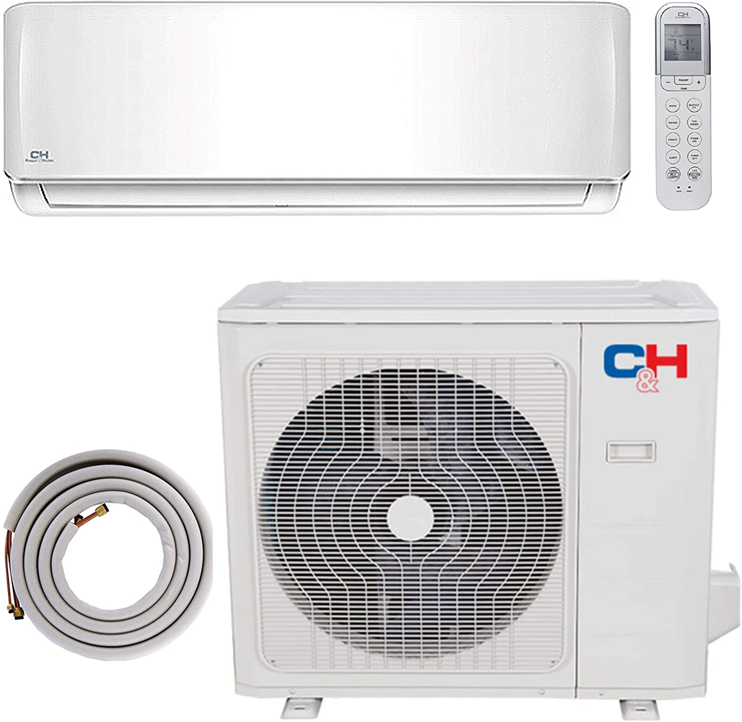 COOPER AND HUNTER 12000 BTU Ductless Mini Split Heat Pump Air Conditioner 115V