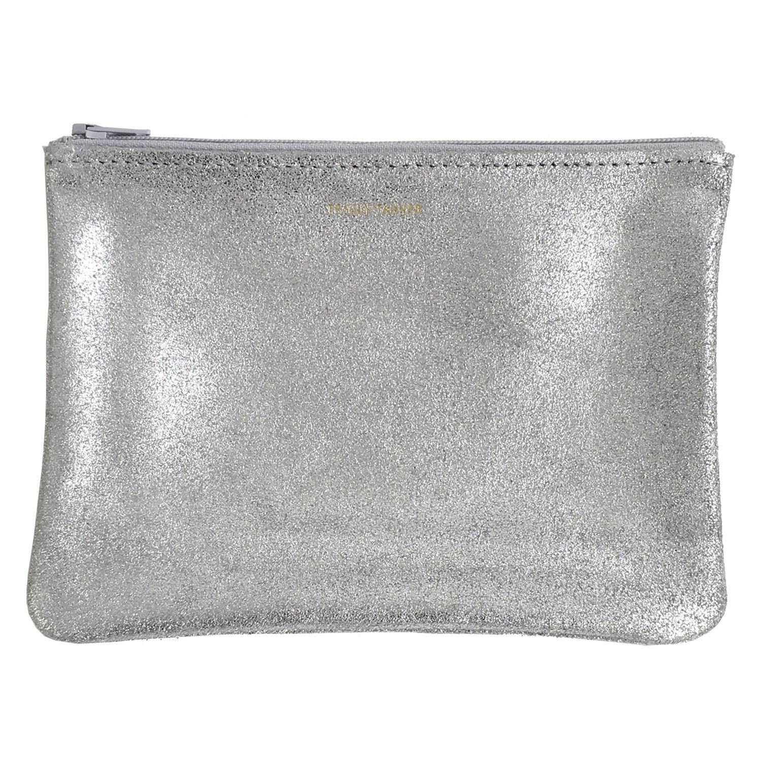 Tracey Tanner Medium Zipper Top Pouch - Frost Sparkle