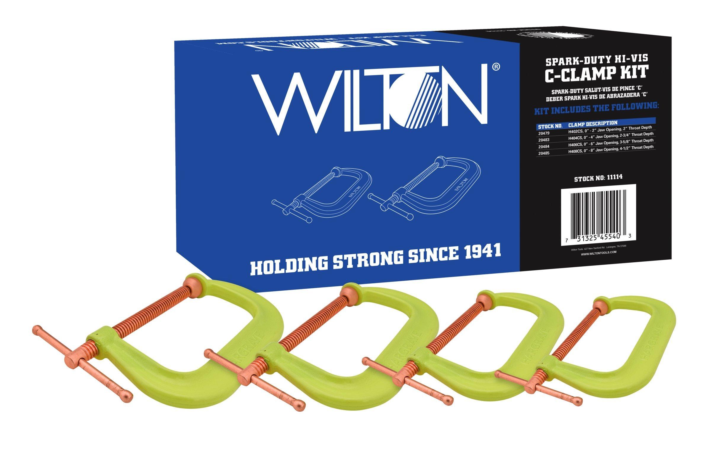 Wilton 11114 Spark-Duty 400CS Hi-Vis C-Clamp Kit by Wilton (Image #1)