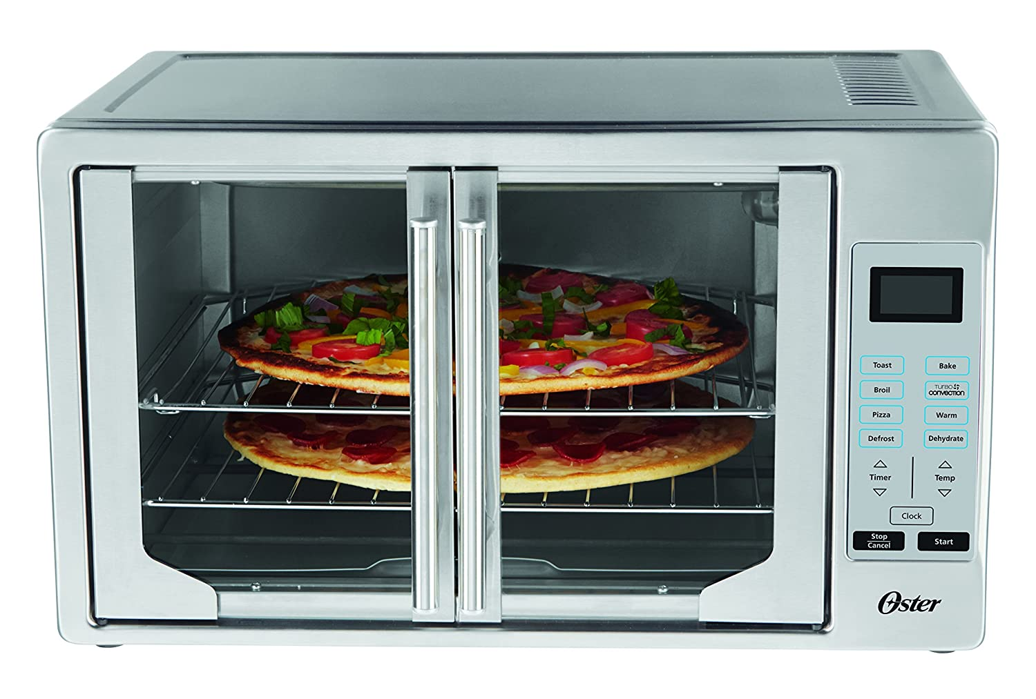 Oster TSSTTVFDDG Digital French Door Oven, Stainless Steel (Renewed)