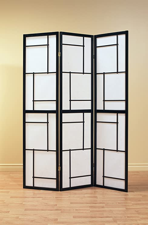 Amazoncom 3 Panel Black Frame Folding Screen Kitchen Dining