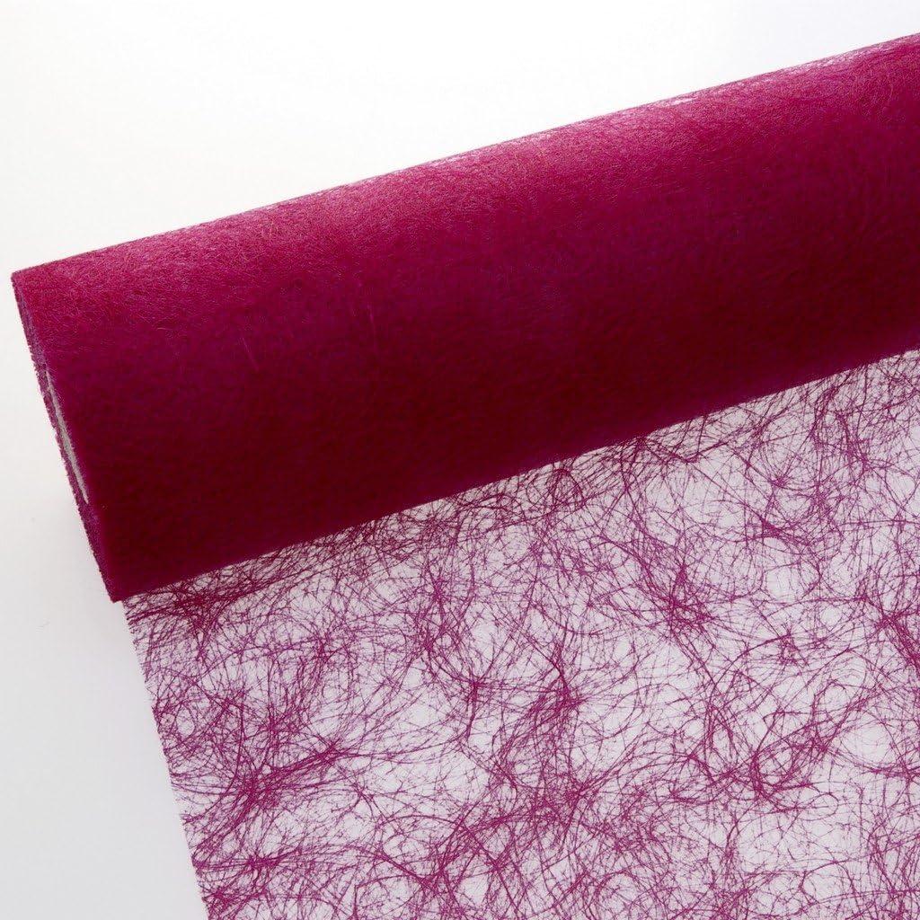 Pink 25/metri +100/decorazioni a forma di cuore Poliestere Rotolo di tessuto da tavolo Sizoflor 20cm Breite