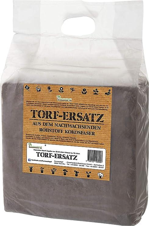 Sustrato de fibra de coco sin turba para 70 L de tierra: Amazon.es ...