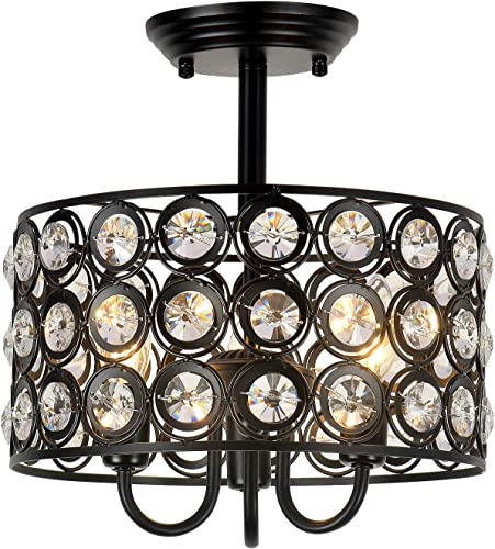 HMVPL 3-Light Crystal Ceiling Lamp