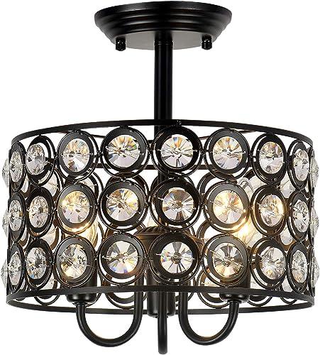 HMVPL 3-Light Crystal Ceiling Lamp
