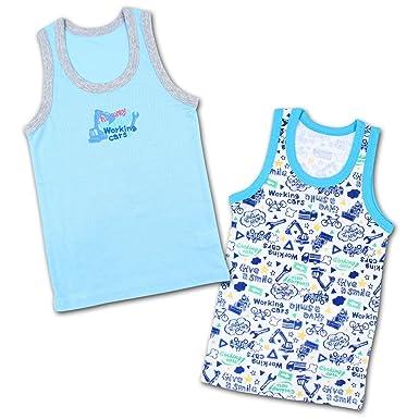 2652e24c645ab 男の子 キッズ 下着 子供肌着 ランニングシャツ A柄 2枚組 Natural kids 130cm アソート