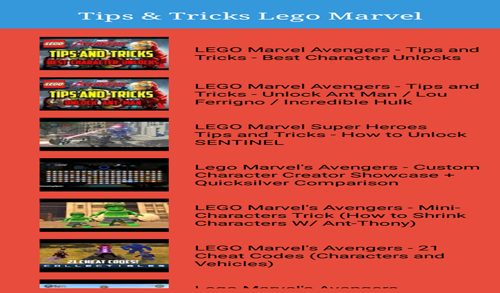 Amazon.com: Guide for Lego Marvel Avengers: Appstore for Android