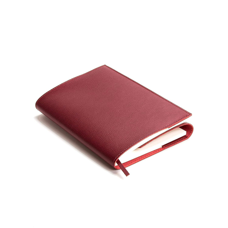 15x21 cm Rosso Include Scatola Regalo Realizzato a mano da Artigiani Toscani Portofino Diario//Taccuino in Pelle con blocco intercambiabile A5