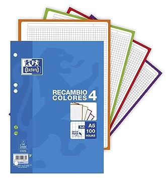 Oxford 400088483 - Recambio hojas sueltas, A5/148 x 210 mm: Amazon.es: Oficina y papelería