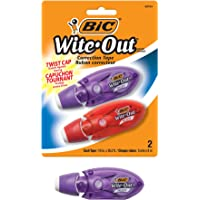 BIC Wite-Out Brand Mini Twist Correction Tape, White, 2-Count (WOMTP21)