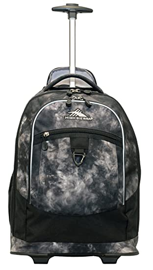 High Sierra Chaser Wheeled Backpack Atmosphere Black