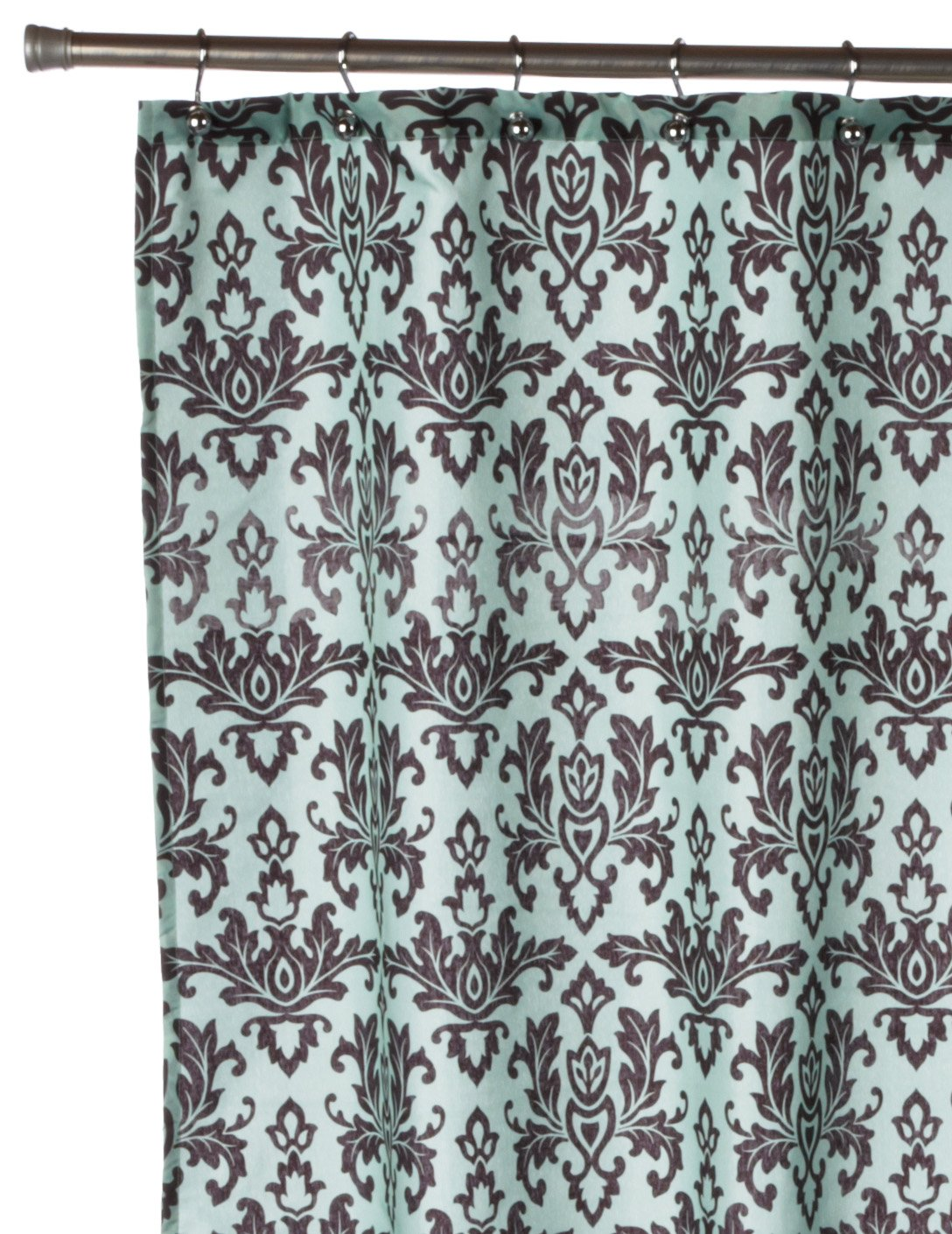 Amazon.com: Carnation Home Fashions Damask Fabric Shower Curtain, Chocolate  On Green: Home U0026 Kitchen