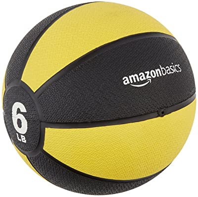 side facing amazonbasics medicine ball