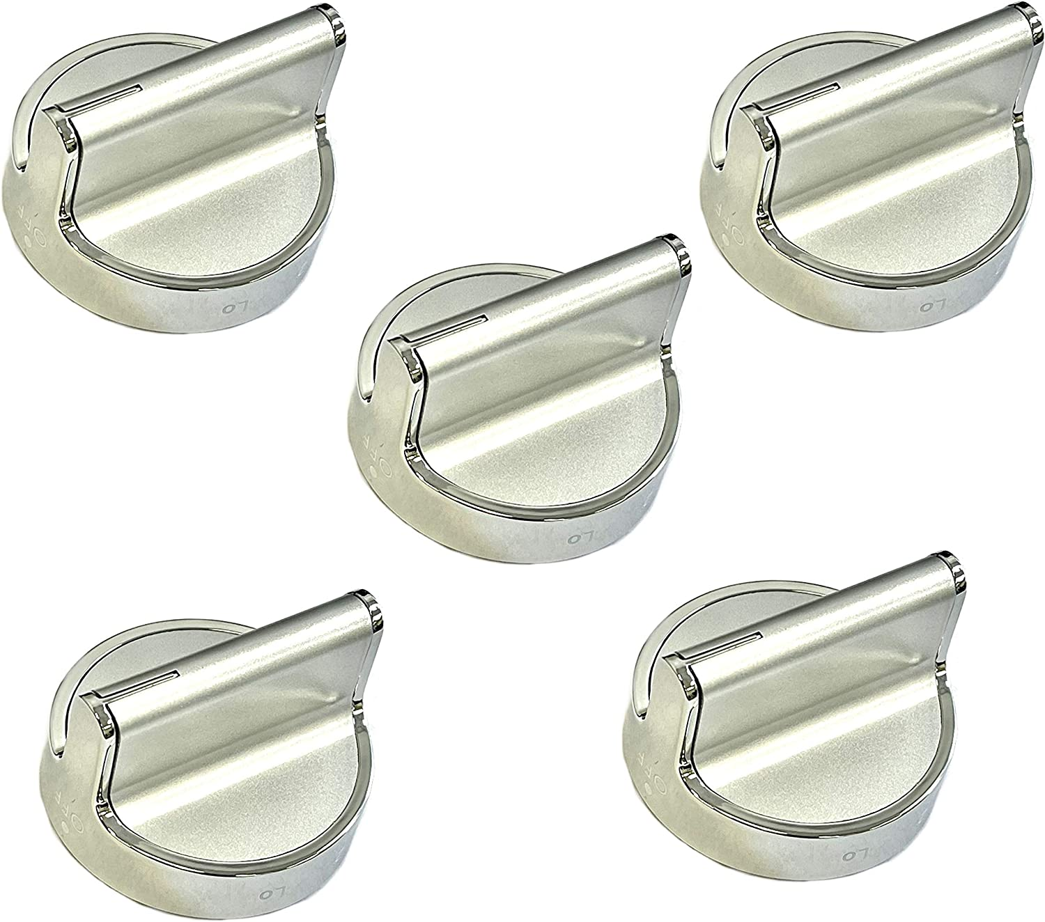 W10766544 Range Knob Replacement for W10430807 W10676228 (5 Pack)