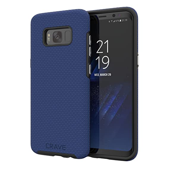 buy popular 5f117 a7579 S8 Case, Crave Dual Guard Protection Series Case for Samsung Galaxy S8 -  Navy
