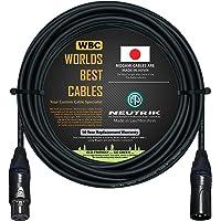 Cable de micrófono equilibrado de 25 pies, hecho a medida por Worlds Best Cables, con cable Mogami 2549 (negro) y…