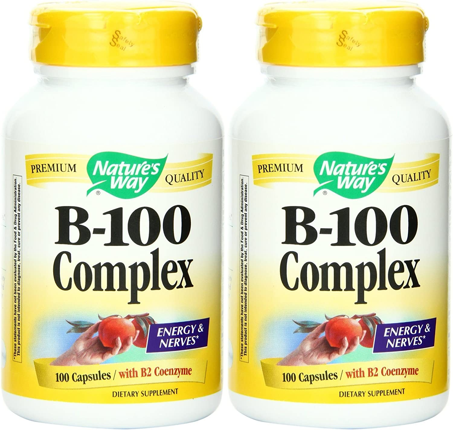Nature s Way Vitamin B-100 Complex, 100 Capsules 2 Pack