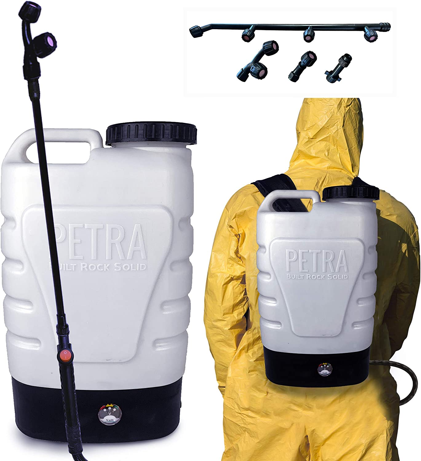 PetraTools 3-Gallon Electrostatic Sprayer for Disinfectant & ULV500 Cleaning Solutions - Fogger Machine for Sanitizing - Cordless Backpack Battery Powered Atomizer (Electro Pro)