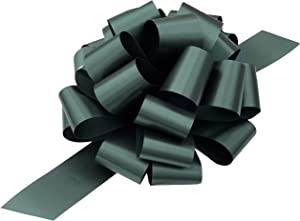 """Large Hunter Green Pull Bows - 9"""" Wide, Set of 6, Christmas, Gift Basket, Presents, Wreath, Swag, St. Patrick's Day, Earth Day, Birthday, Fundraiser, Classroom, Office, Decoration"""