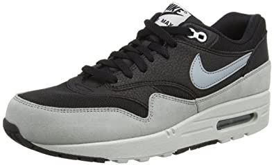 484937f03524 Nike Women s Air Max 1 Essential Black Dove Grey Pure Platinum Running Shoe  7