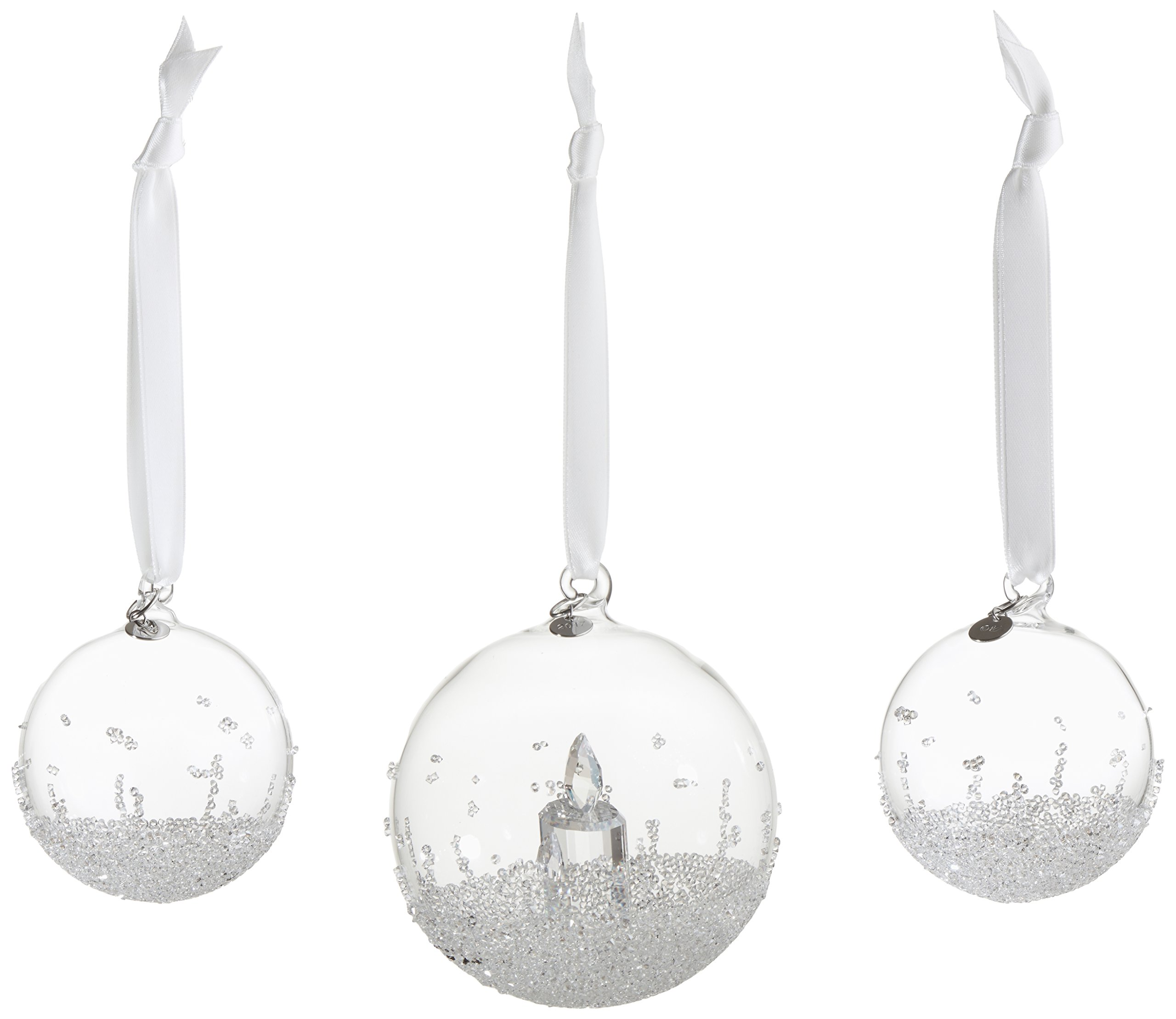 Swarovski Christmas Ball Ornament Set Annual Edition 2017
