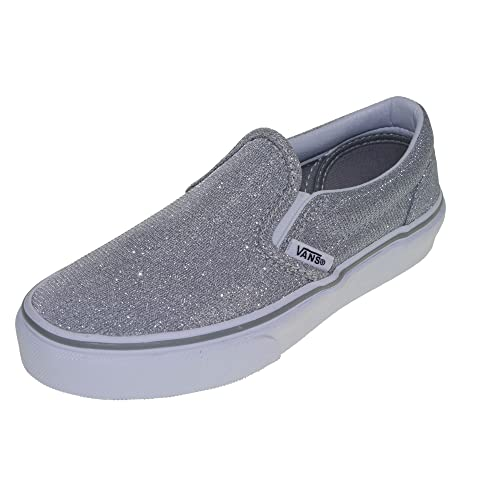 e9b173495b028e Vans Kids Girl s Classic Slip-On (Little Kid Big Kid) (Shimmer ...