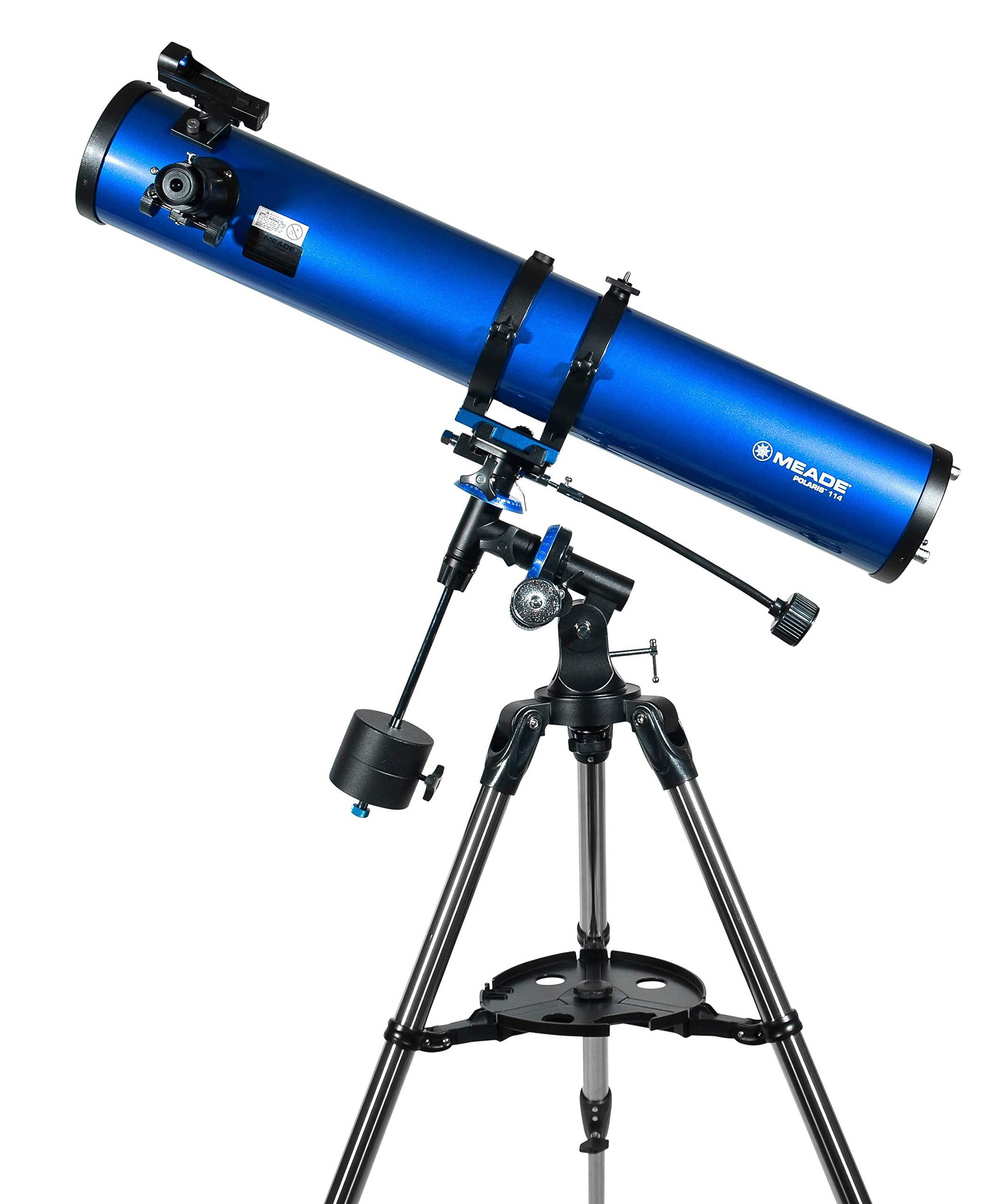 Meade Instruments 216004 Polaris 114 EQ Reflector Telescope (Blue) by Meade Instruments