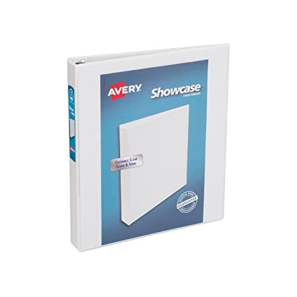 amazon com avery economy showcase view binder with 1 inch round
