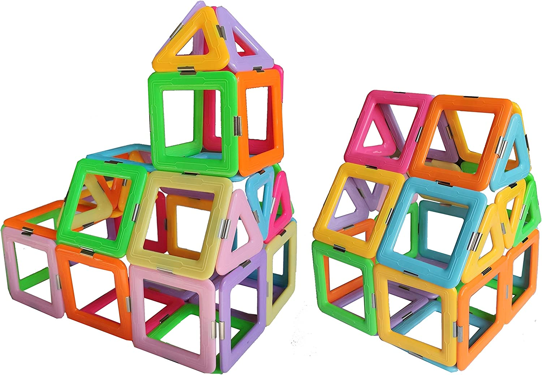 54Pcs Large Set Magnetic Educational Toys Building Blocks For Kids Toddlers Boys