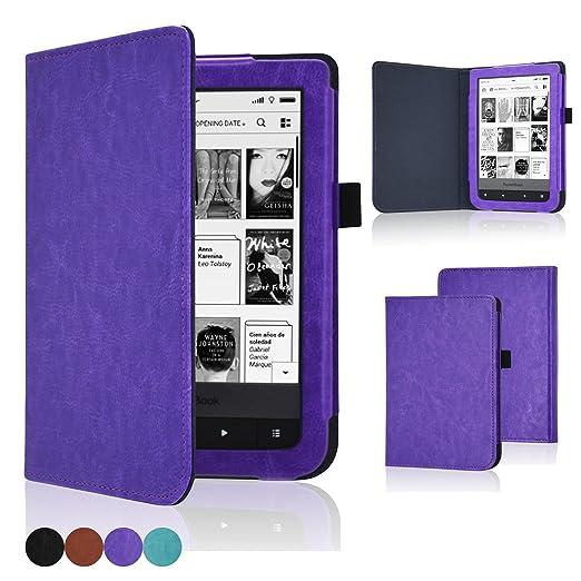 4 opinioni per Acdream Custodia per lettore digitale Pocketbook Touch Lux 2 e 3, in pelle PU di