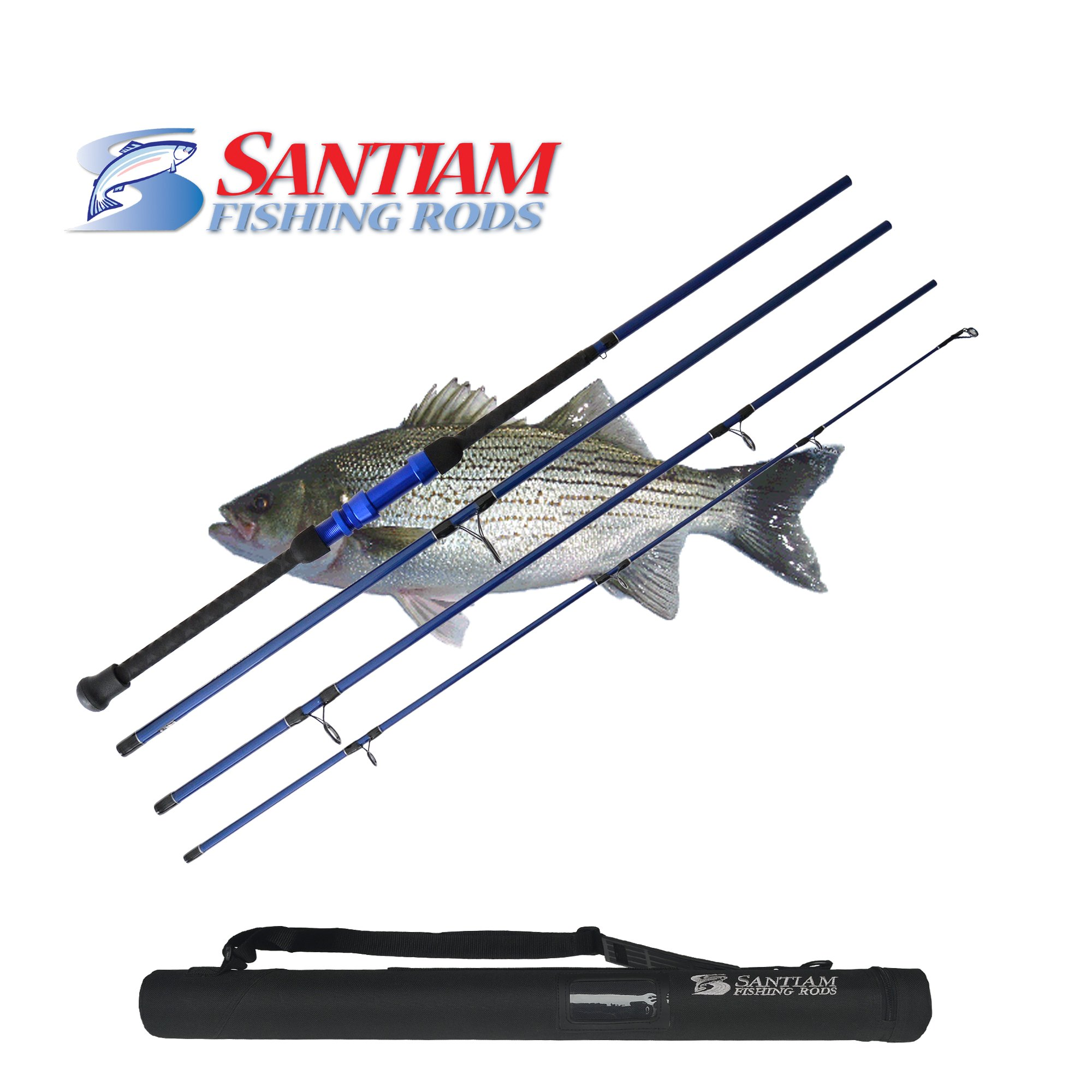 Santiam Fishing Rods Travel Rod 4 Piece 10' 12-25lb Surf Rod by Santiam Fishing Rods