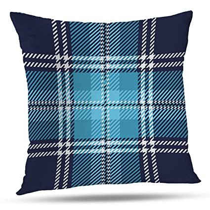 Excellent Batmerry Checkered Pillow Covers 18X18 Inch Blue And White Checkered Fabric Design Double Sided Decorative Pillows Cases Throw Pillows Covers Ibusinesslaw Wood Chair Design Ideas Ibusinesslaworg