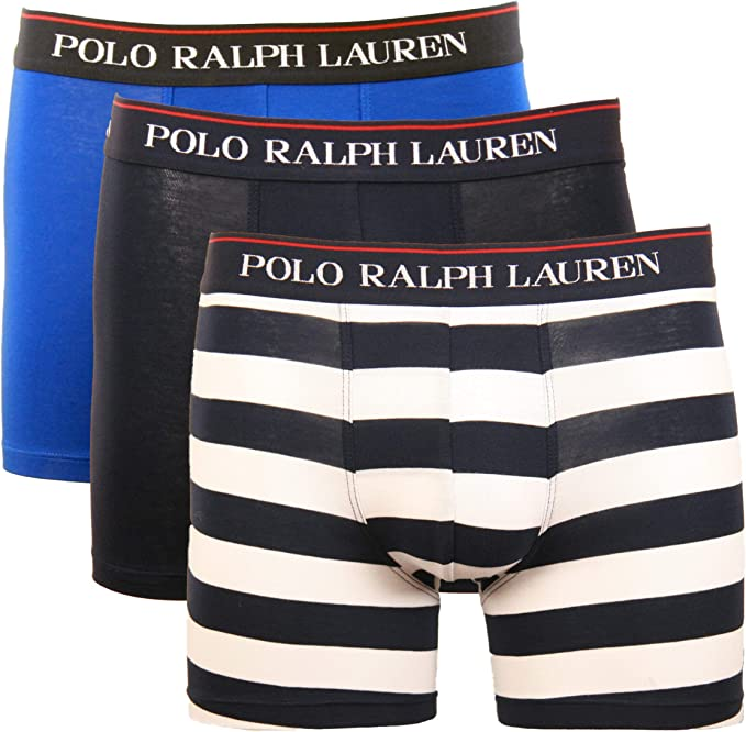 Men's Underwear boxers pants briefs Trunks 3-Pack Red+Blue+Dark Grey