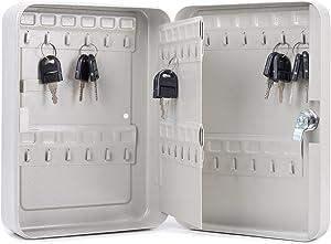 CO-Z Carbon Steel Key Cabinet Storage Box Organizer for Keys with Mechanical Lock 2 keys (48 keys)
