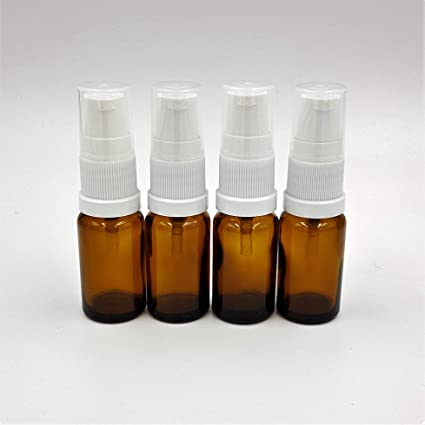 4 x 10 ml braunglas Botella de color blanco tratamiento de Bomba/Serum Bomba Vacío