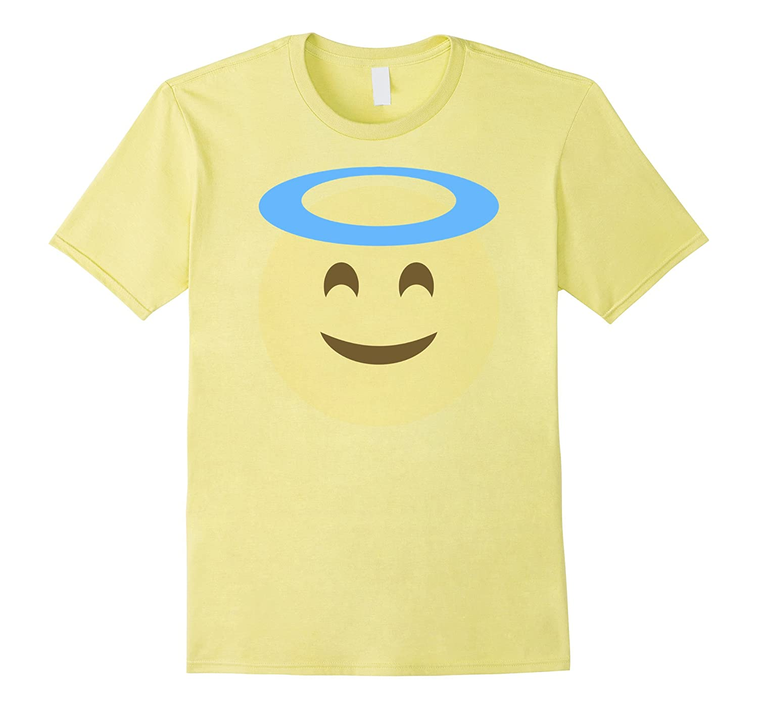 ANGEL SMILE FACE EMOJI T SHIRT Group Couple Costume T Shirt-FL