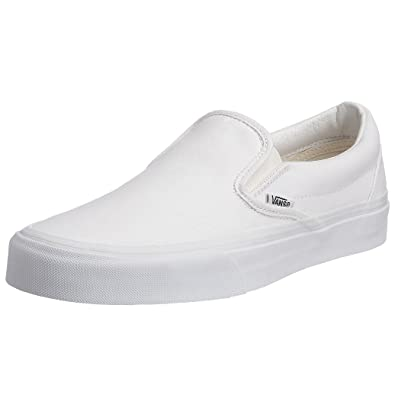 Vans Unisex-Erwachsene Classic Slip-on Canvas Low-Top weiß D(M ... ea2bd7267