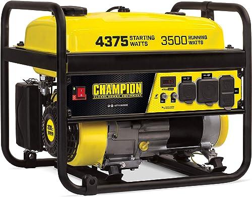 Champion 100559 3500-Watt RV Ready EPA Portable Generator, 4.7 gal, Yellow