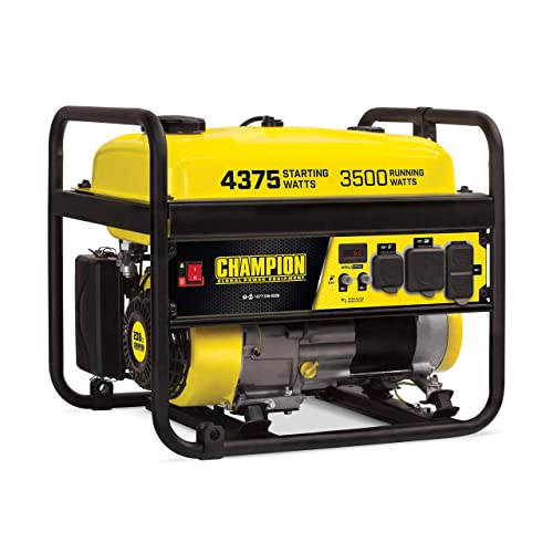 Champion 100559 3500-Watt RV Ready EPA Portable Generator, 4.7 gal, Yellow