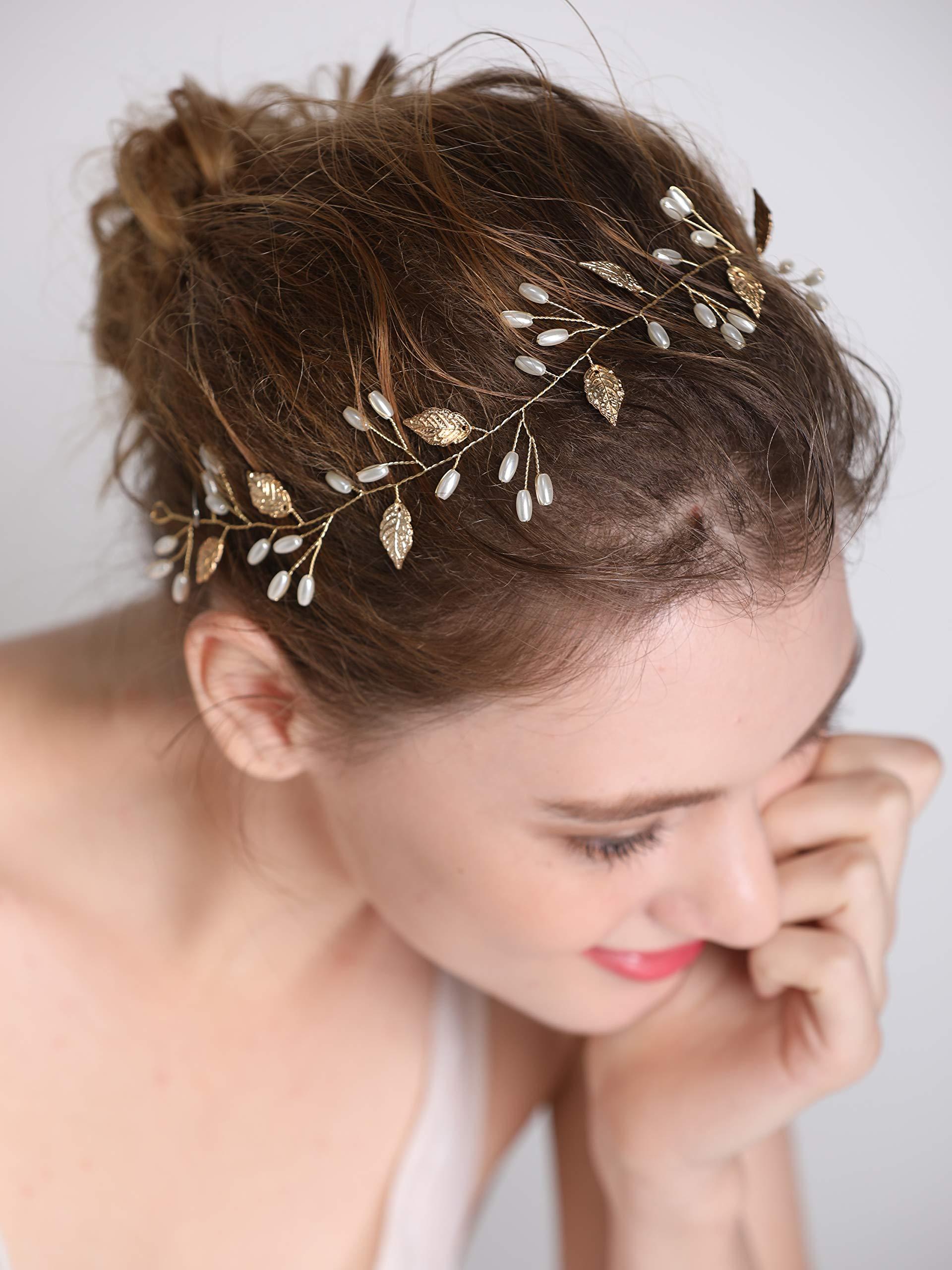 Amazon Yean Wedding Hair Comb Leaf Hair Comb Bridal Leaves