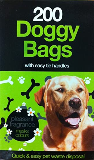 DOGGY BAGS Scented Pet Pooper Scooper Bag Dog Cat Poo Waste Toilet Poop Bags