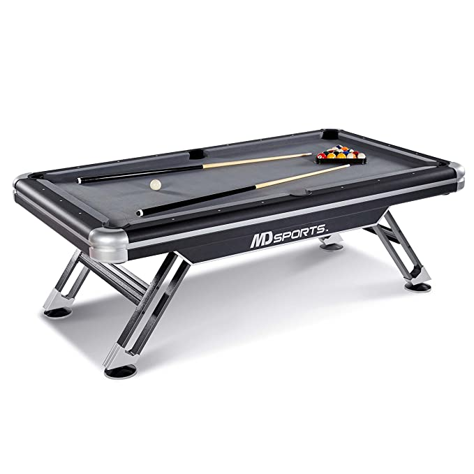 Amazoncom MD Sports BLLM Titan Pool Table Black - Pool table repair maryland
