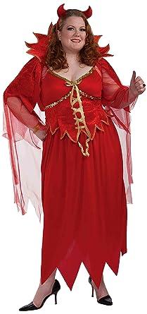 Womens Devine Devil Costume Plus Size Fancy Dress: Amazon.co ...