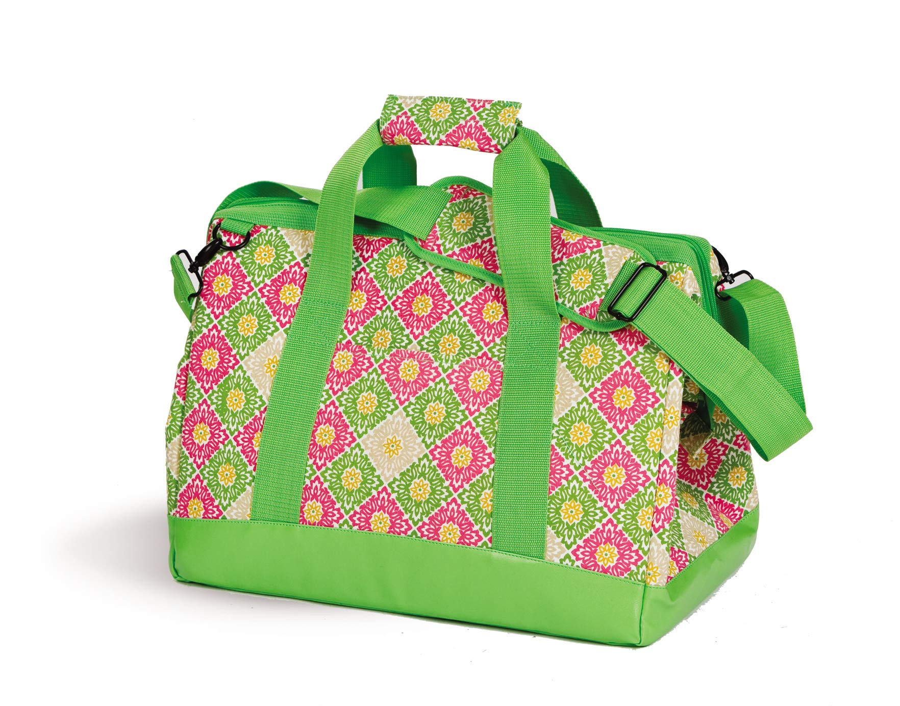 Picnic Plus Spacious Thermal Foil Lined Extra Large Cooler Bag Holds Hot or Cold Foods Green Gazebo