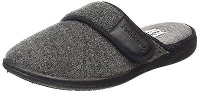 Fitting Comfy Slip On Mule Slippers Black G Padders LUKE Mens Microsuede Wide