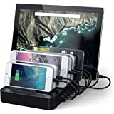 Satechi 7-Port USB Charging Station Dock for (2 x Type-C Ports) for Nexus 5X / 6 , LG G5, HTC 10, OnePlus 3, iPhone, iPad, Samsung & More(Black)
