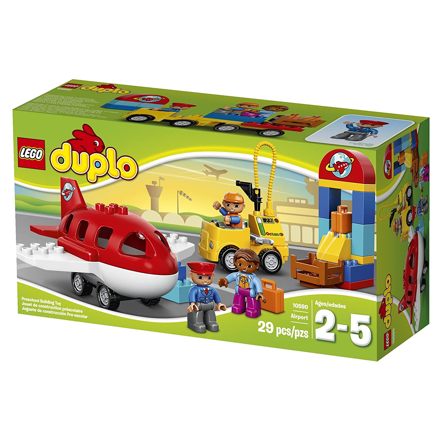 Amazon LEGO DUPLO Town Airport Buildable Toy for 3 Year